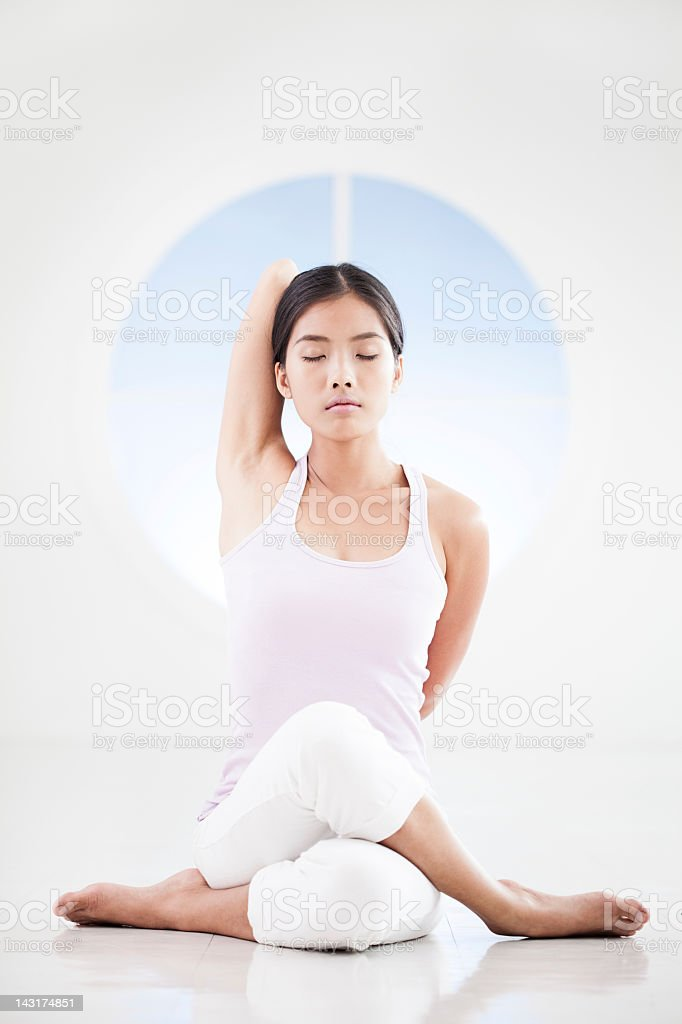 Gomukhasana stock photo