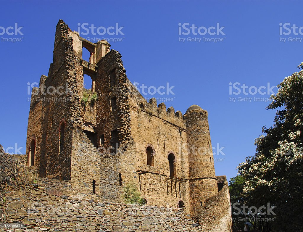 Gondar, Amhara Region, Ethiopia: Royal Enclosure, Iyasu palace stock photo