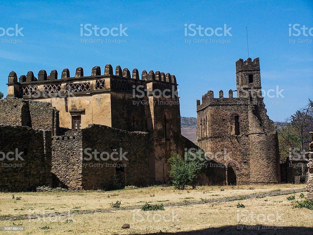 Gondar Castle Ruins stock photo