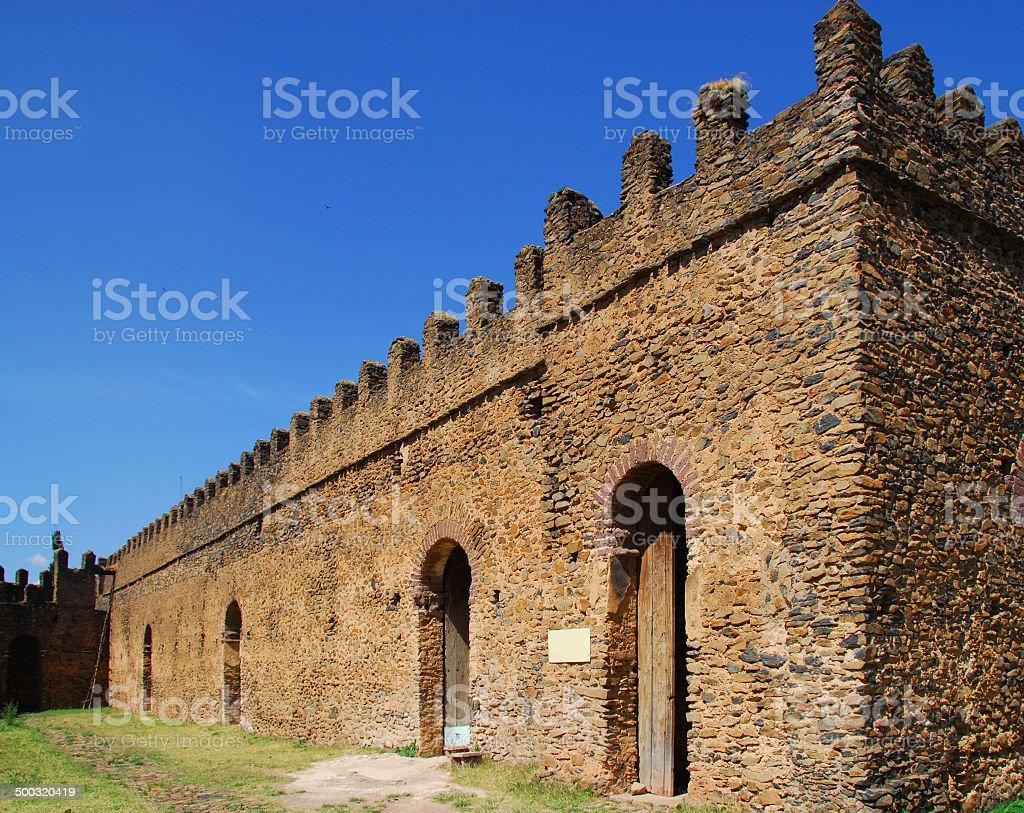 Gondar, Ethiopia, Fasil Ghebbi, Bekaffa palace, UNESCO World Heritage stock photo
