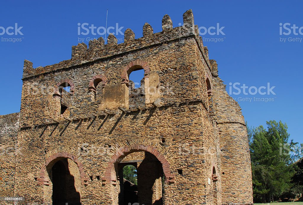 Gondar, Ethiopia: Fasil Ghebbi - Fasiladas' Archive or Chancellery stock photo