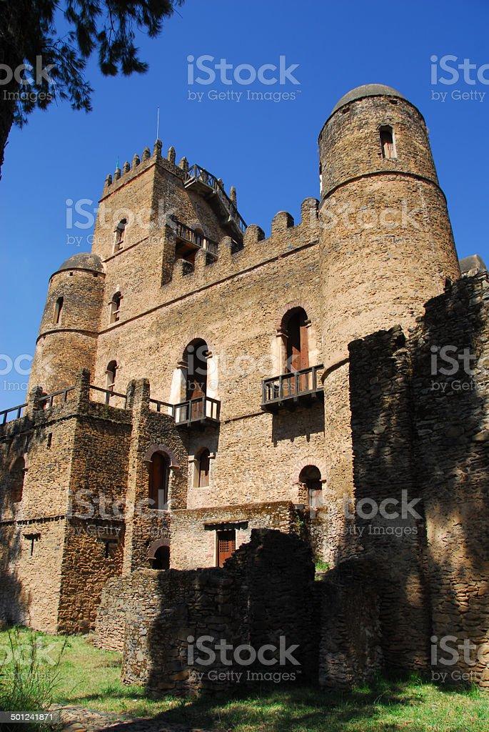 Gondar, Ethiopia, Fasil Ghebbi, Fasilidas Castle, UNESCO World H stock photo