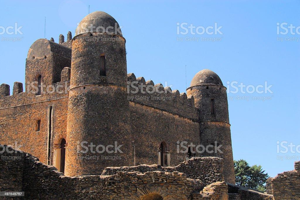 Gondar, Ethiopia, Fasil Ghebbi, Iyasu castle, UNESCO World Heritage stock photo
