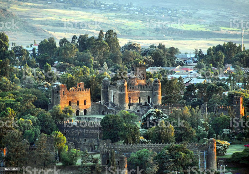 Gondar, Ethiopia, Fasil Ghebbi, UNESCO World Heritage Site stock photo