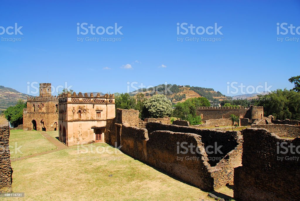 Gondar, Ethiopia, Fasil Ghebbi, Yohannes Library and Fasiladas Chancellery stock photo