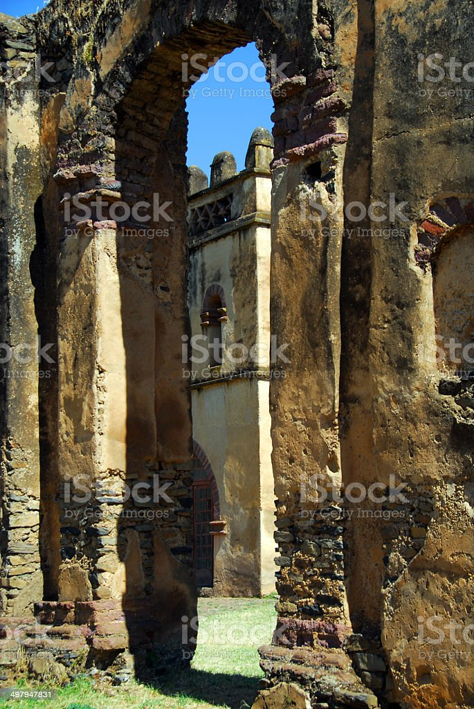 Gondar, Ethiopia, Fasil Ghebbi, Yohannes Library, UNESCO World H stock photo