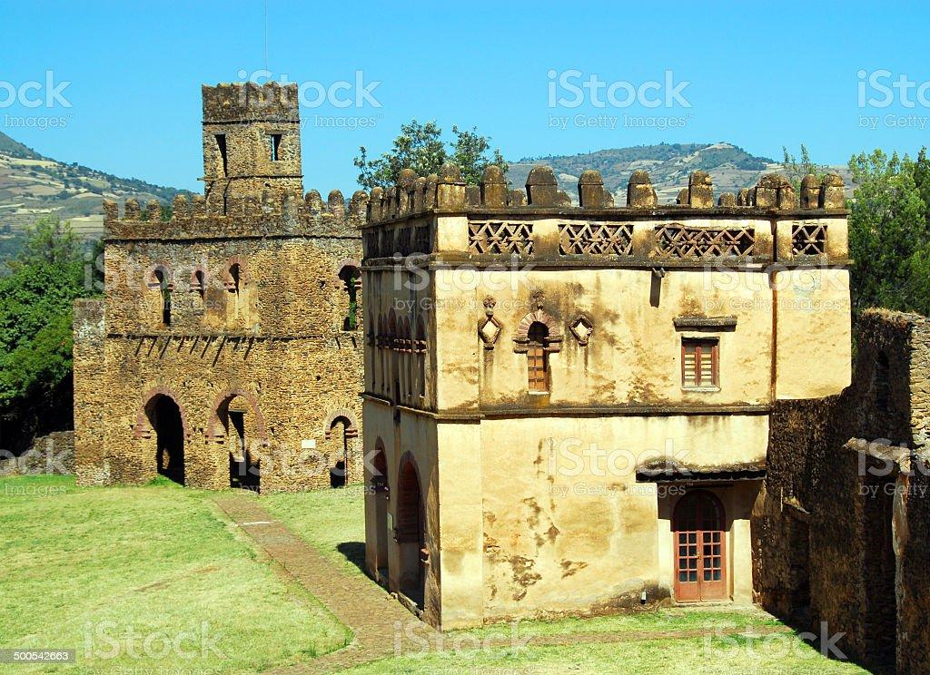 Gondar, Ethiopia, Fasil Ghebbi, Yohannes Library, UNESCO World Heritage stock photo