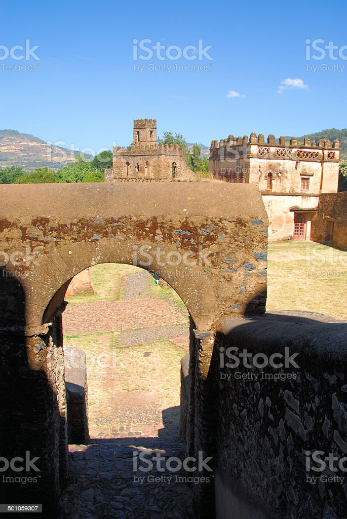 Gondar, Ethiopia: the Royal Enclosure stock photo