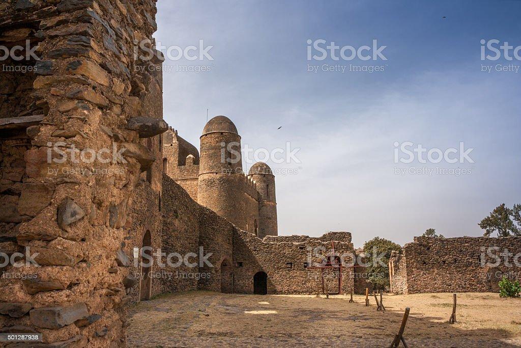 Gonder Castle stock photo