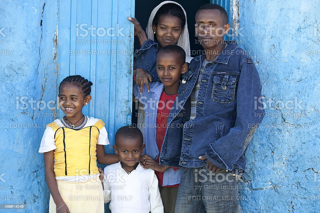 Gonder people in Timket holiday. stock photo