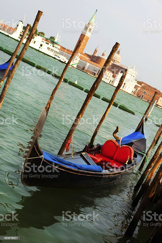 Gondola and Venice royalty-free stock photo