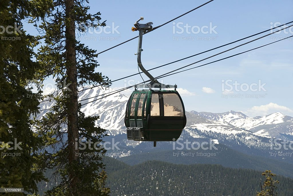 Gondola at Keystone Ski Resort, Colorado royalty-free stock photo