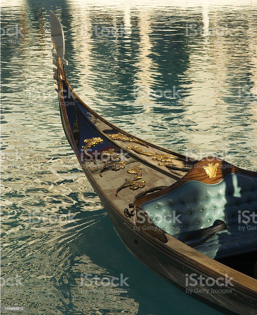 Gondola at Venetian Hotel royalty-free stock photo