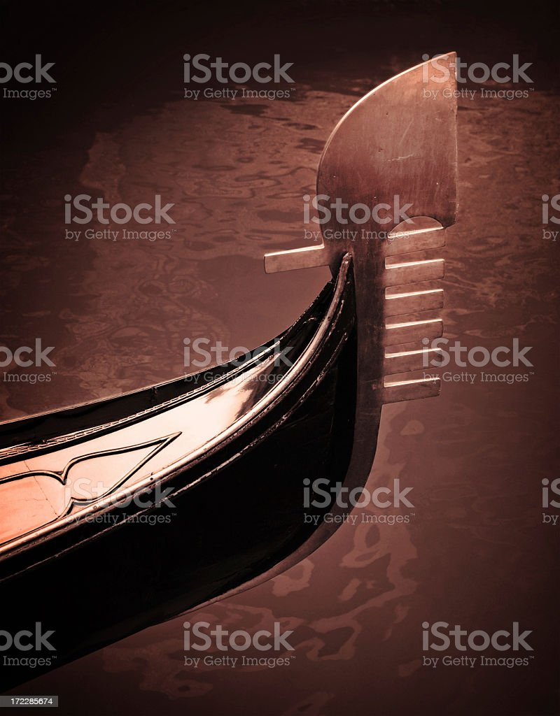 gondola bow royalty-free stock photo