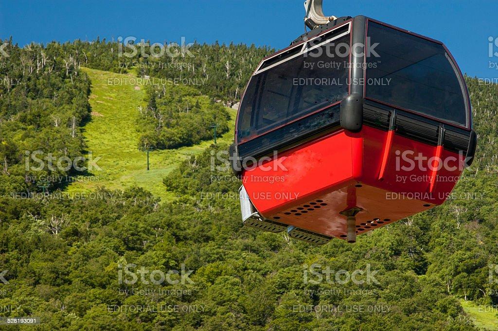 Gondola Car Climbing Mt. Mansfield Ski Area stock photo