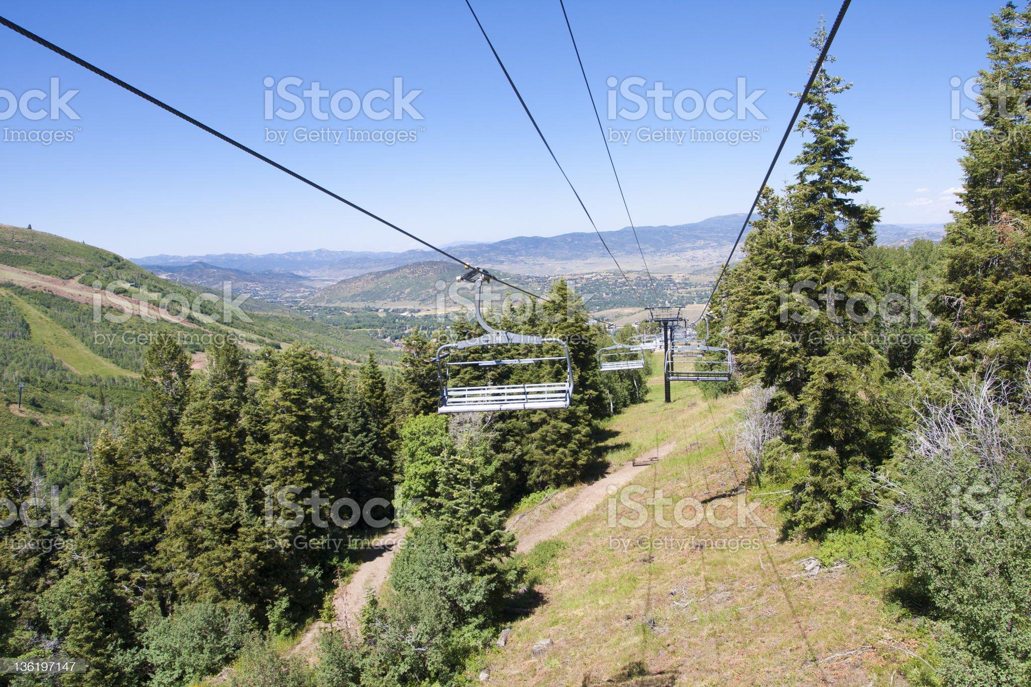 Gondola Chairlift in Park City, Utah royalty-free stock photo