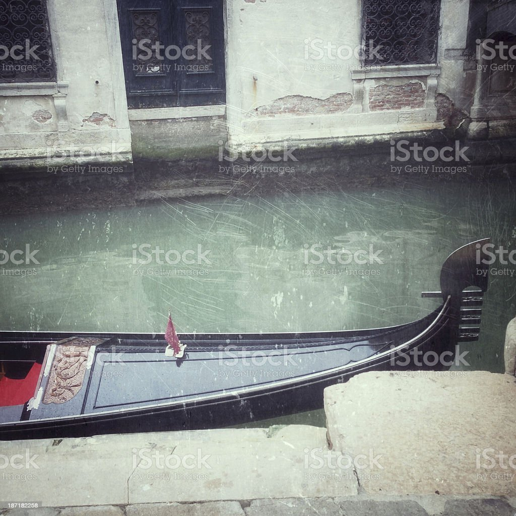 Gondola close-up in Venezia stock photo