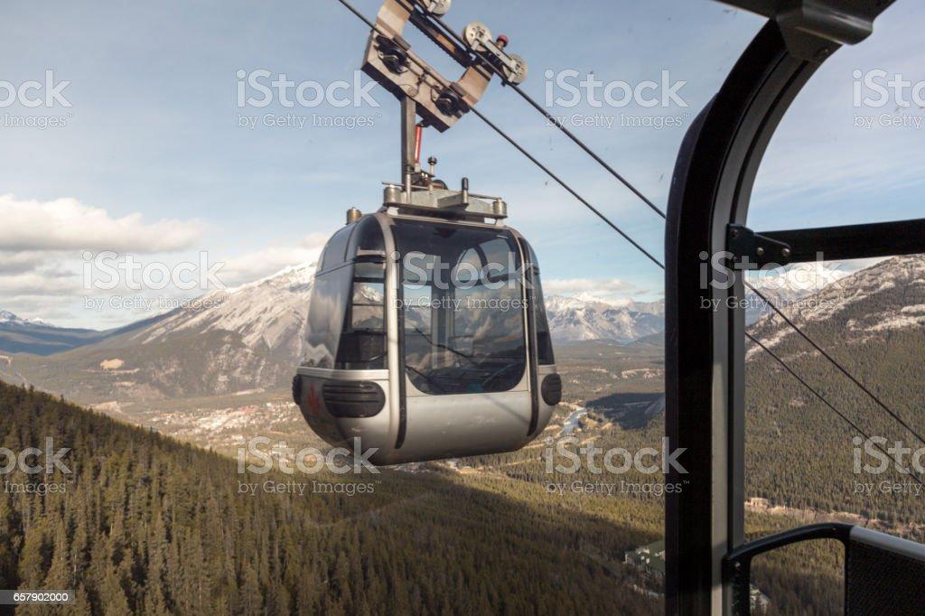Gondola going up stock photo