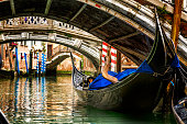 Gondola in a Venice canal