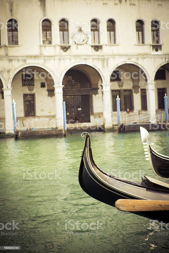 Gondola in Canal Grande of Venice,Veneto,Italy royalty-free stock photo