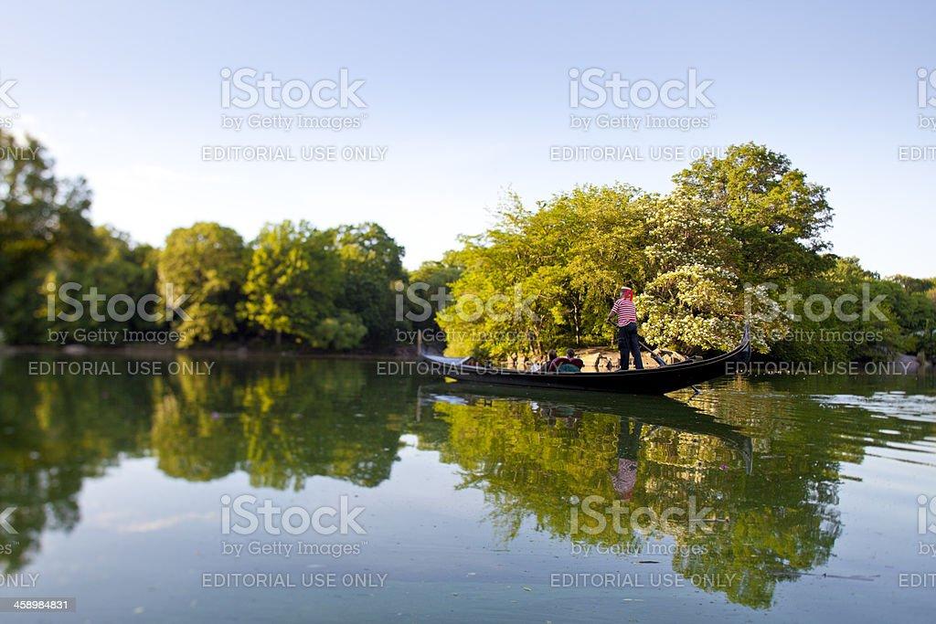 gondola in Central Park stock photo