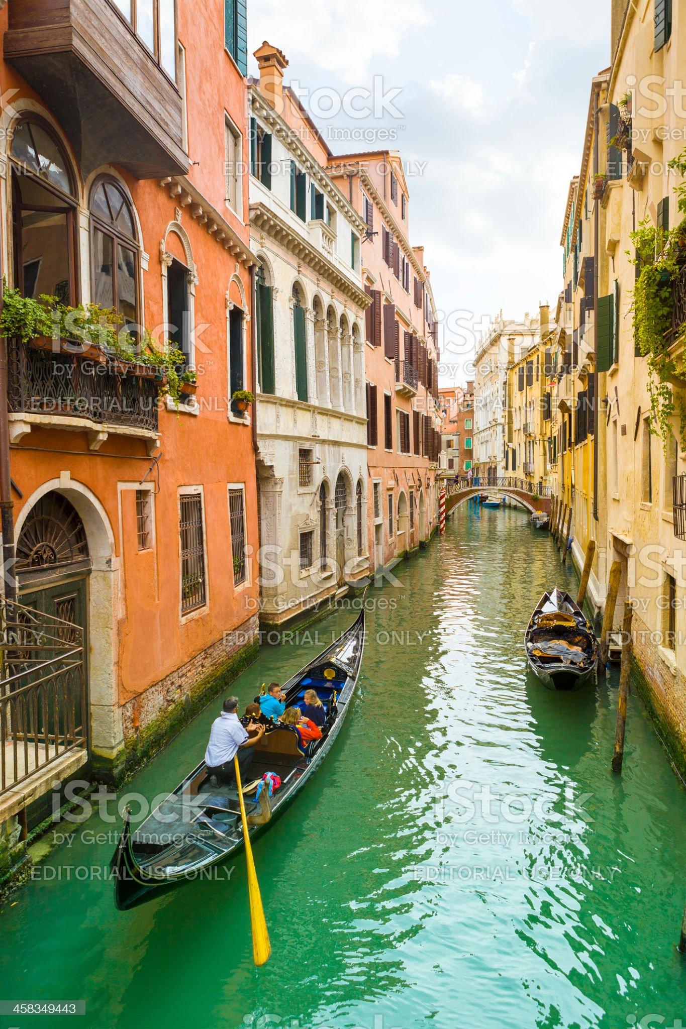 Gondola in Venice canal royalty-free stock photo