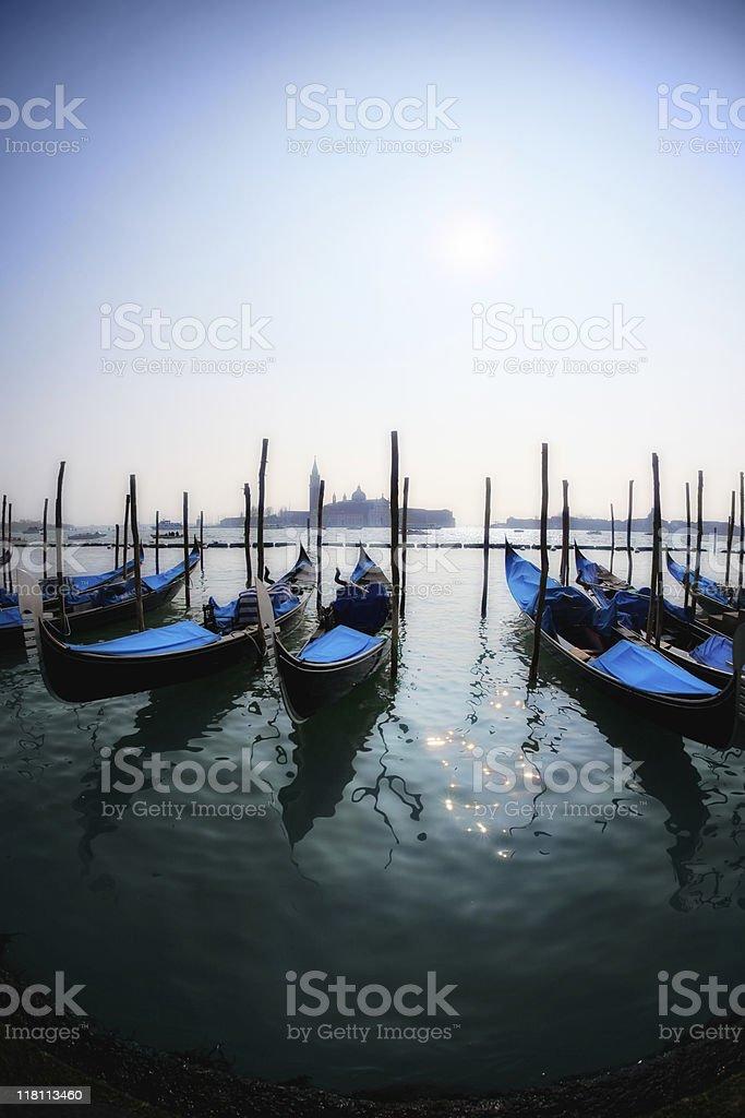 Gondola in venice, italy stock photo