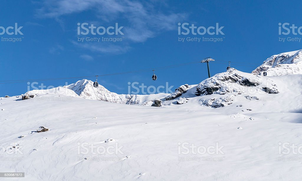 Gondola lift stock photo