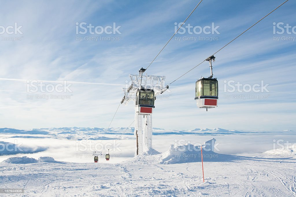 Gondola Lift Sweden Are royalty-free stock photo