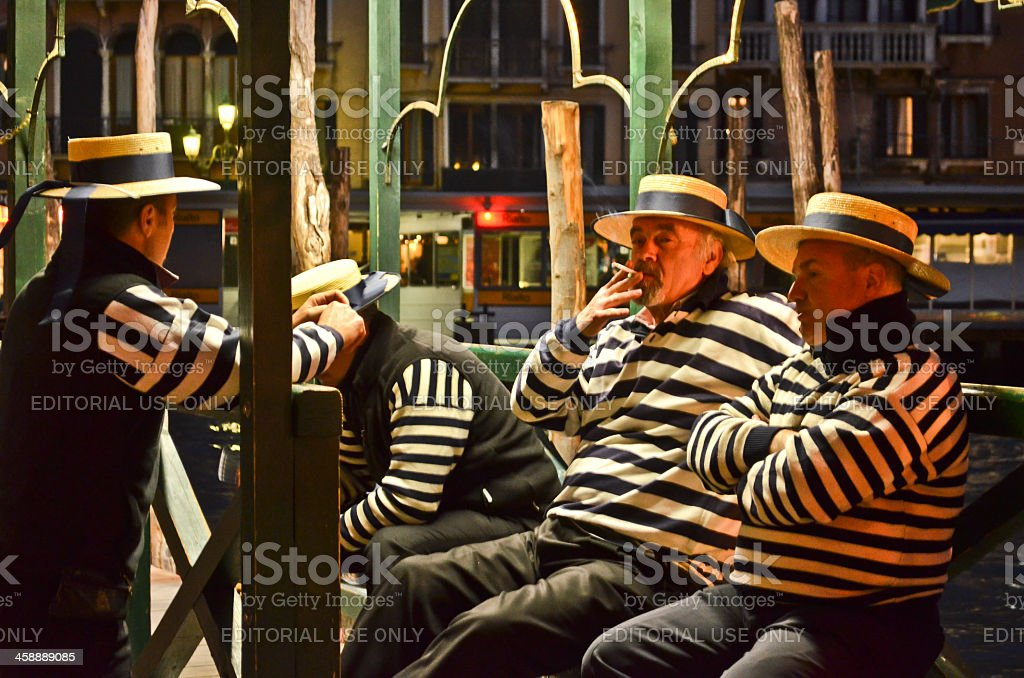 Gondola men royalty-free stock photo
