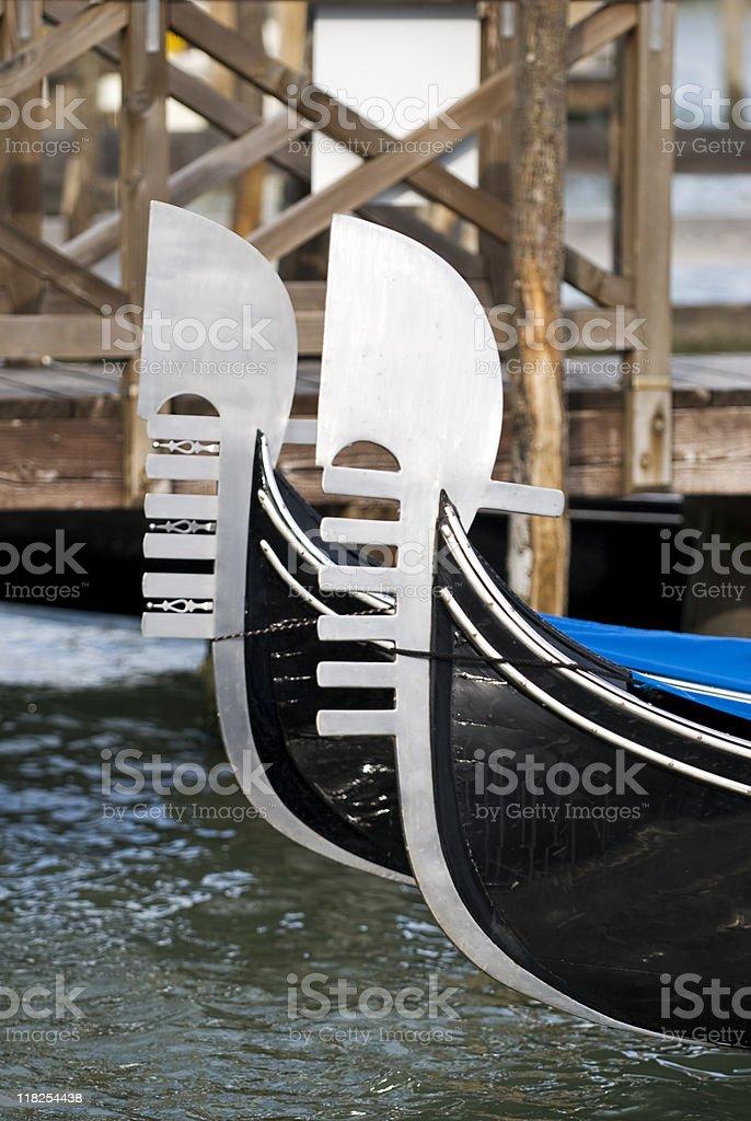 Gondola mored in Venice royalty-free stock photo