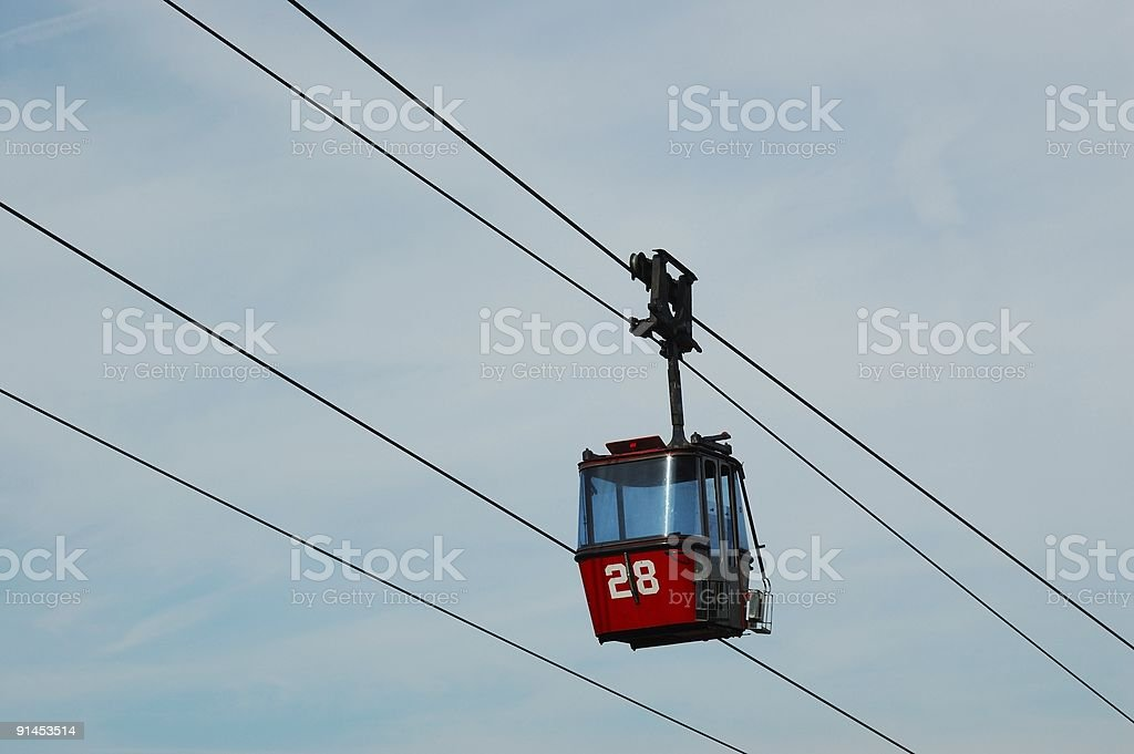 Gondola number 28 on ski lift royalty-free stock photo
