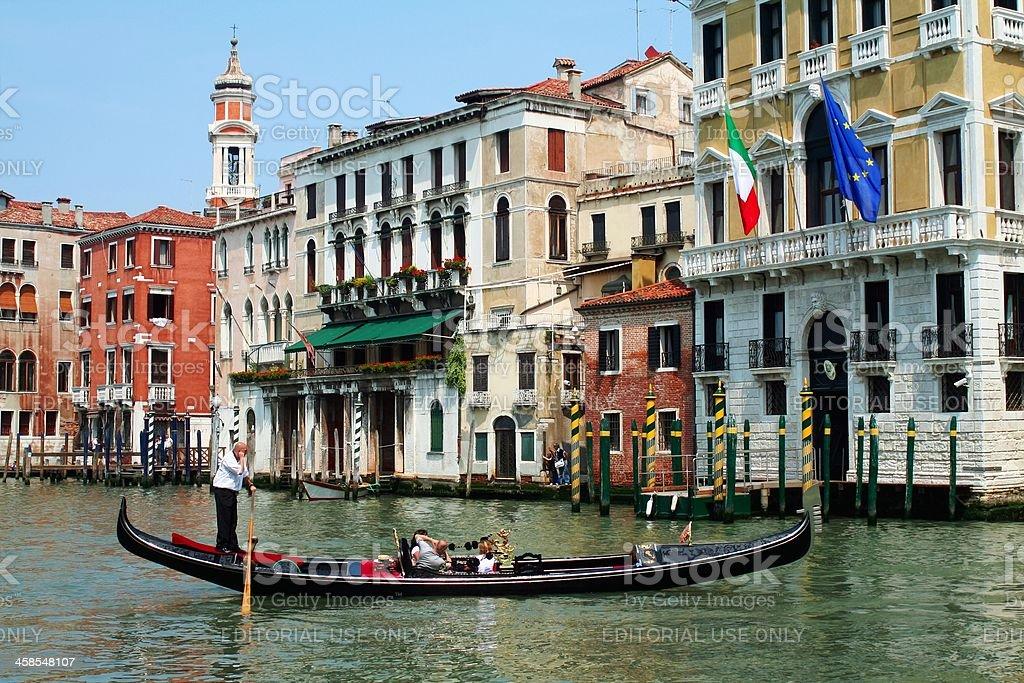 Gondola on Canal Grande royalty-free stock photo