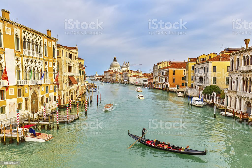 Gondola on Grand Canal royalty-free stock photo