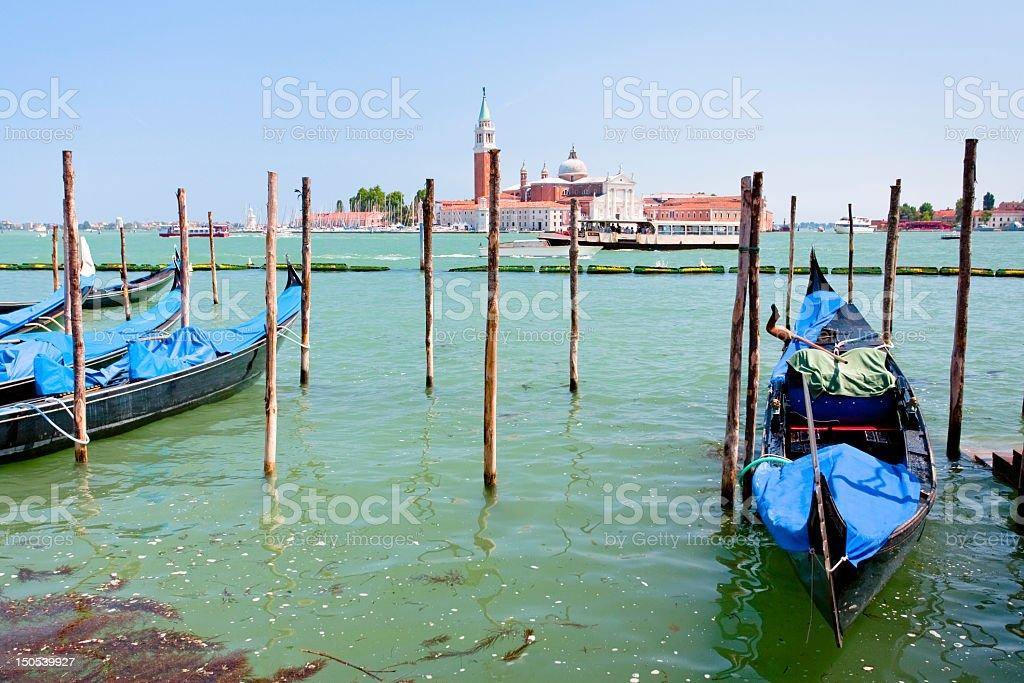gondola on San Marco Canal, Venice royalty-free stock photo
