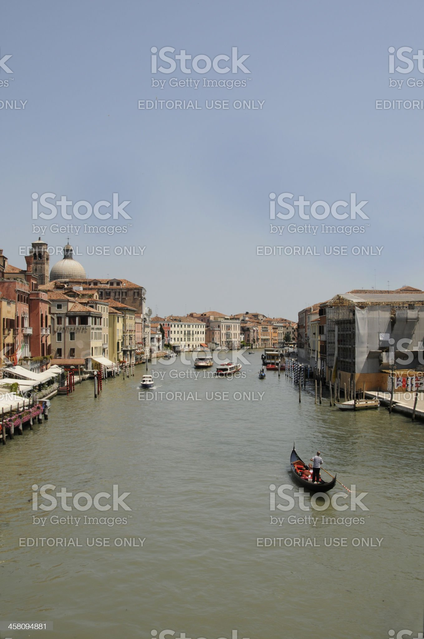 Gondola on The Grand Canal in Venice, Italy. royalty-free stock photo