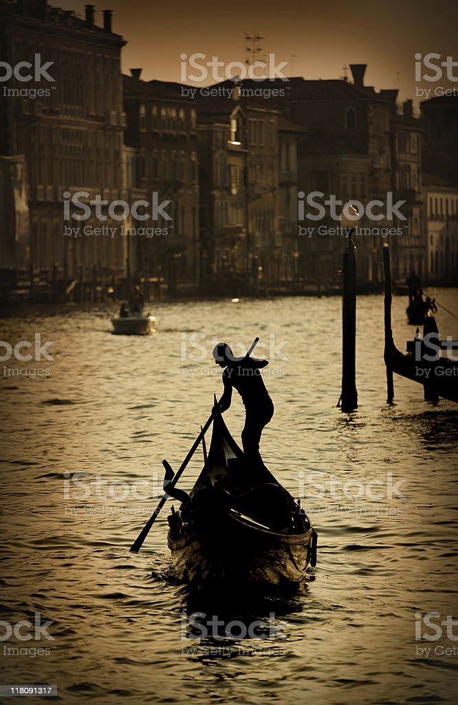 Gondola on the Grand Canal royalty-free stock photo