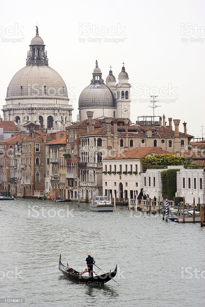 Gondola on the Grand Canal, Venice, Italy royalty-free stock photo