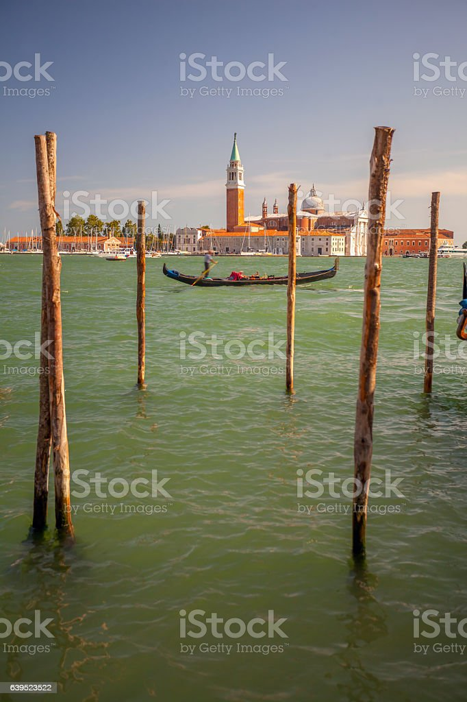 Gondola on the Lagoon. stock photo