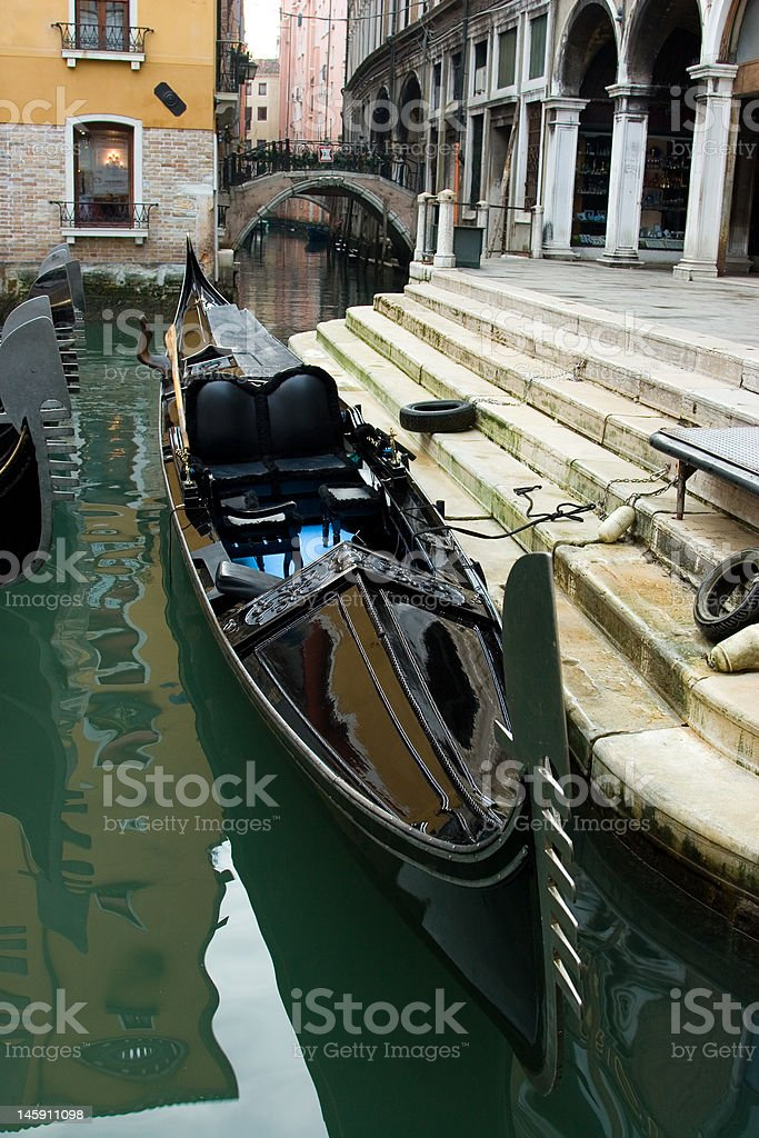 Gondola on the parking royalty-free stock photo