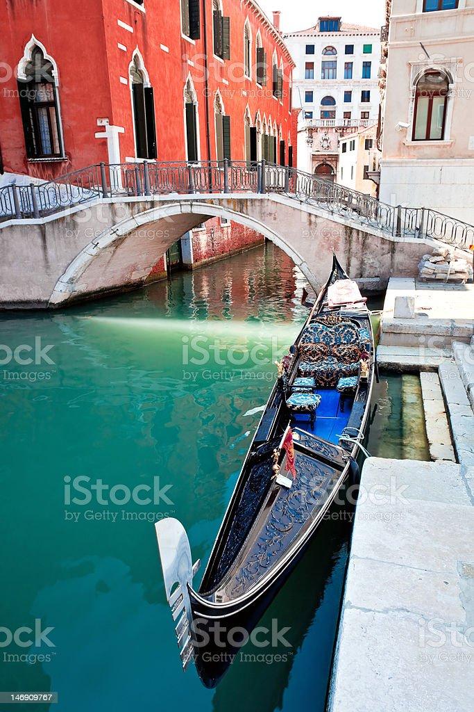 Gondola on Venice canal royalty-free stock photo