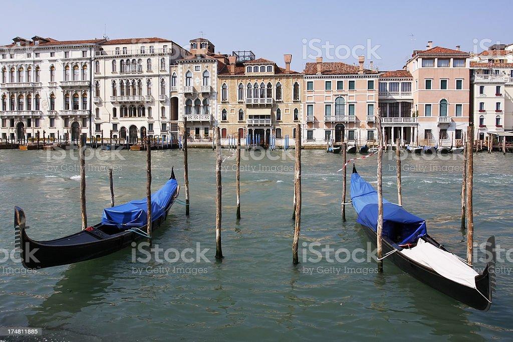 Gondola on Venice Grand Canal royalty-free stock photo
