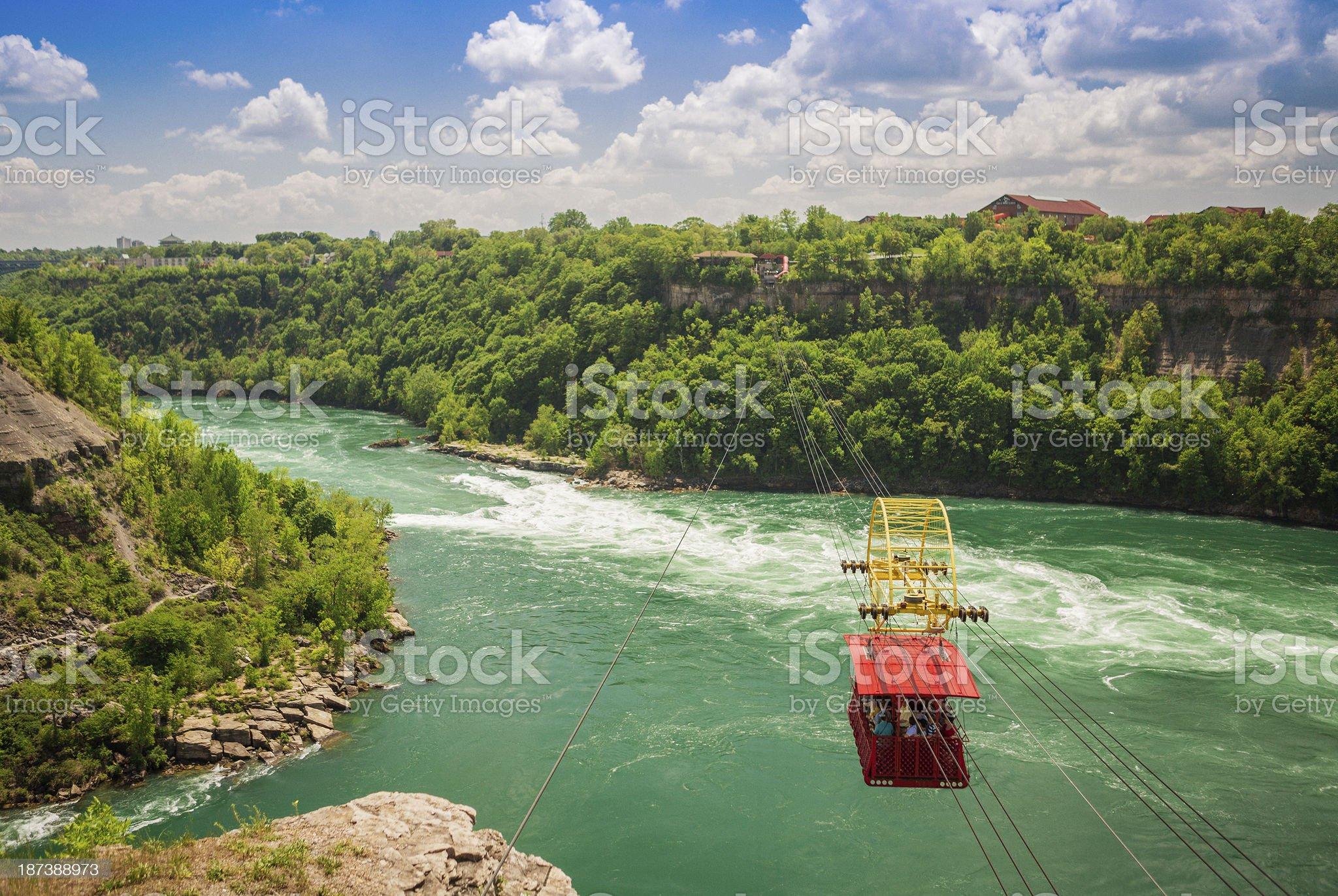 Gondola over the Niagara River royalty-free stock photo