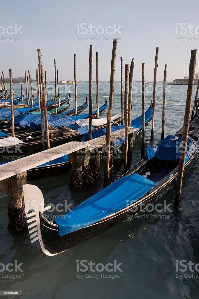 Gondola Park at San Marco, Venice royalty-free stock photo