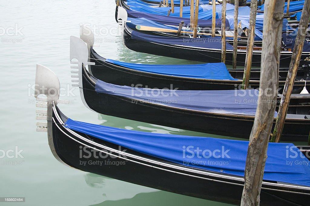 Gondola Parking, Venice - Italy royalty-free stock photo