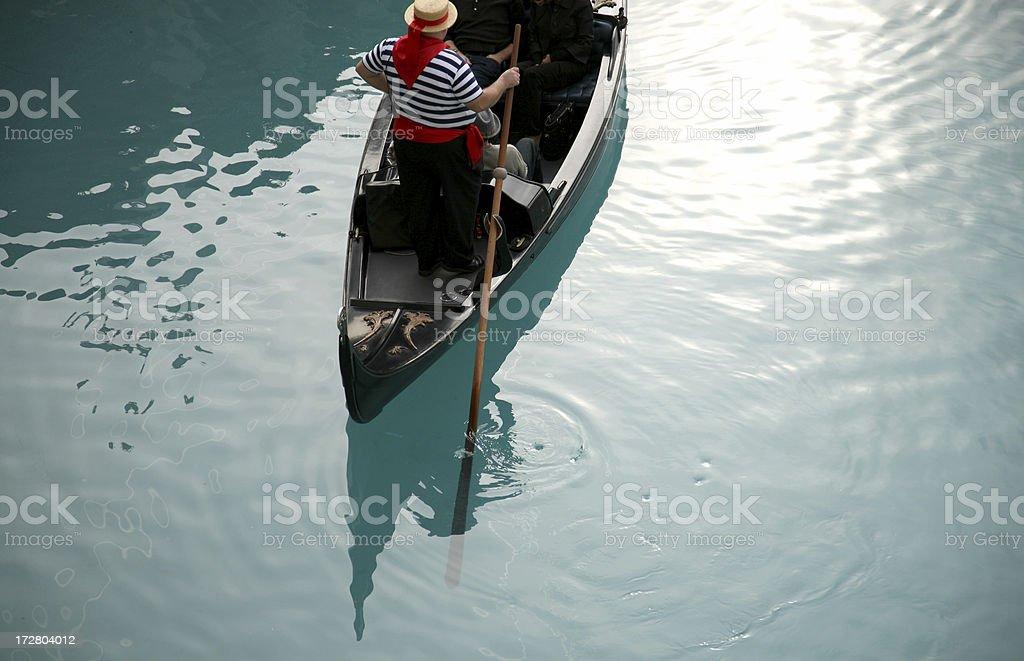 Gondola (singing) royalty-free stock photo