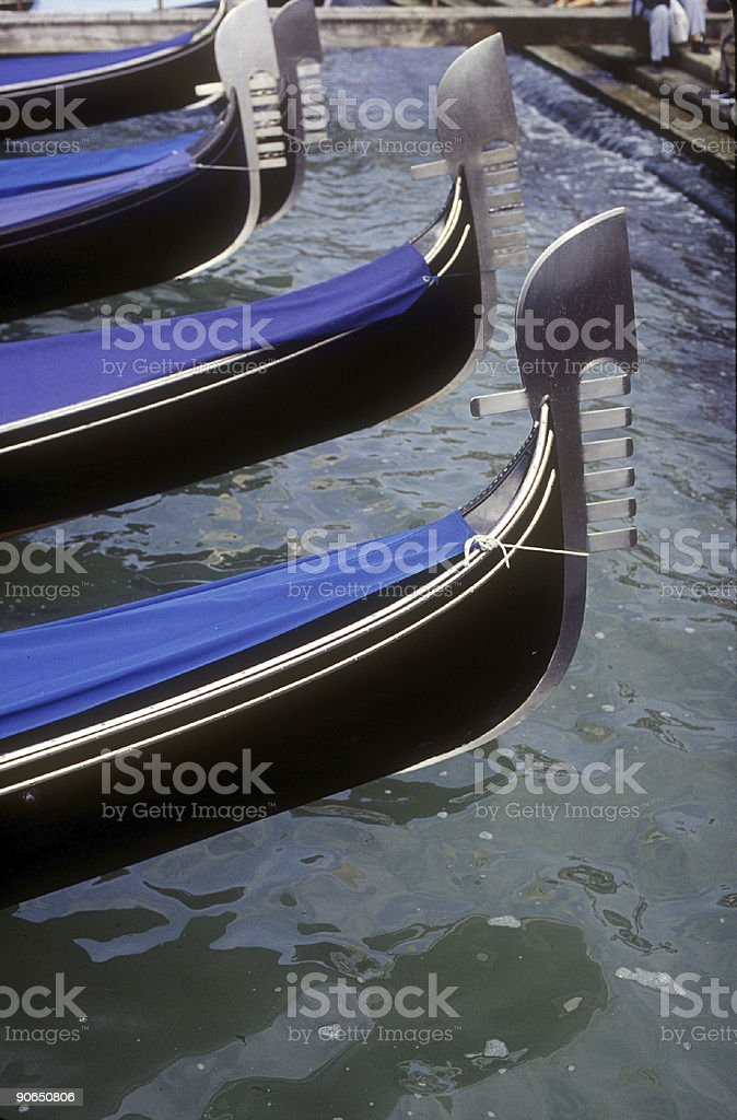 Gondola Prows royalty-free stock photo