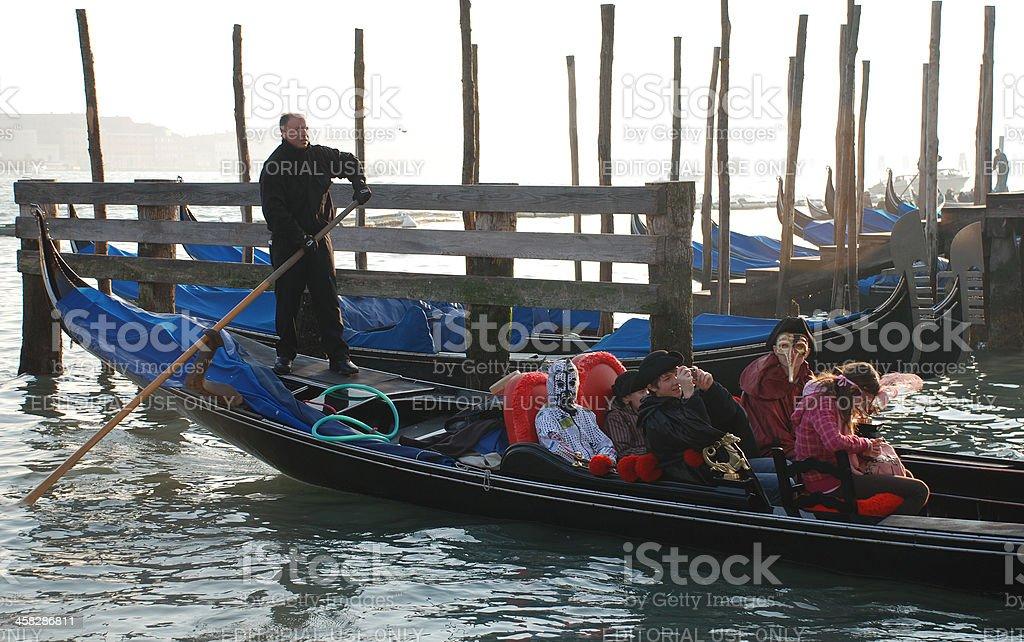 Gondola Ride at Venice Carnival, Italy royalty-free stock photo