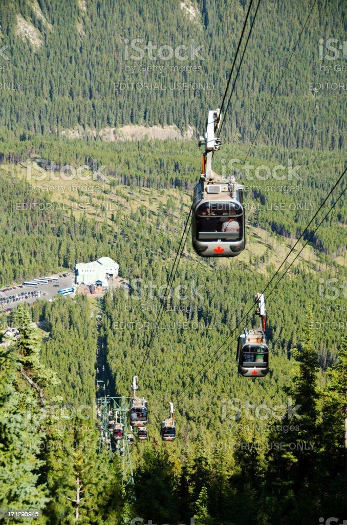 Gondola Ride in Banff National Park stock photo