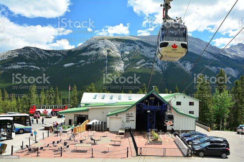 Gondola ride in Banff stock photo
